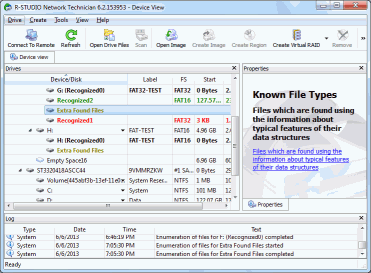 Figure 5: Files recovered using search for Known File Types (Extra Found Files) that are found outside a logical disk