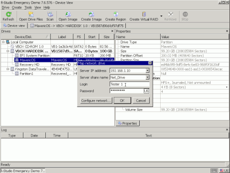 Map network drive dialog box