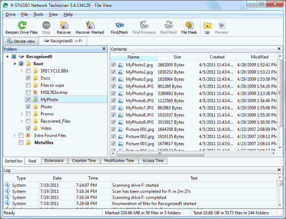 Unformat Disk and RAID Recovery: Disc scan 5