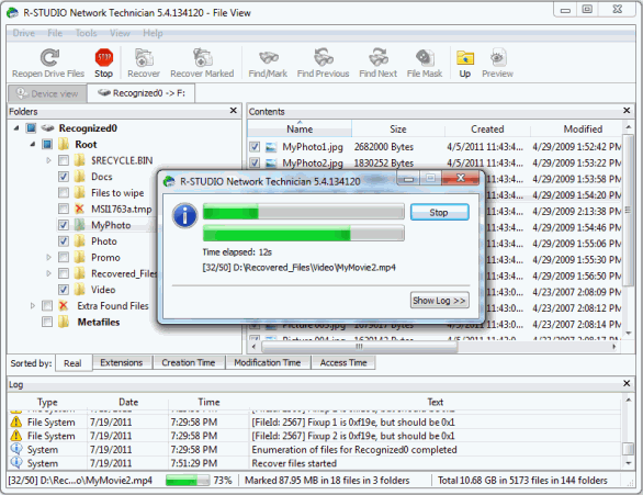 Unformat Disk and RAID Recovery: Disc scan 8