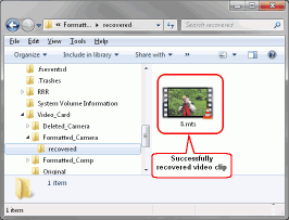 HD Video Recovery from SD cards: Video Recovery: Recovered Video Clip