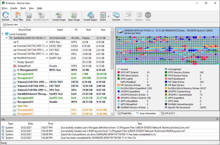 R-Studio Help - Disk Scan