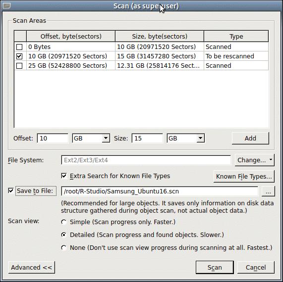 R-Linux Help - Disk Scan